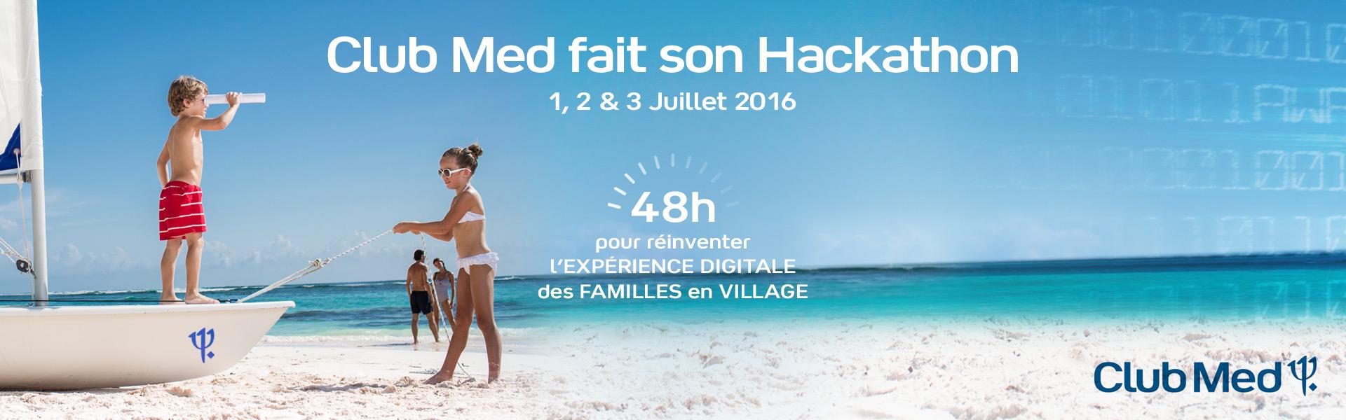 Visuel Club Med fait son Hackathon