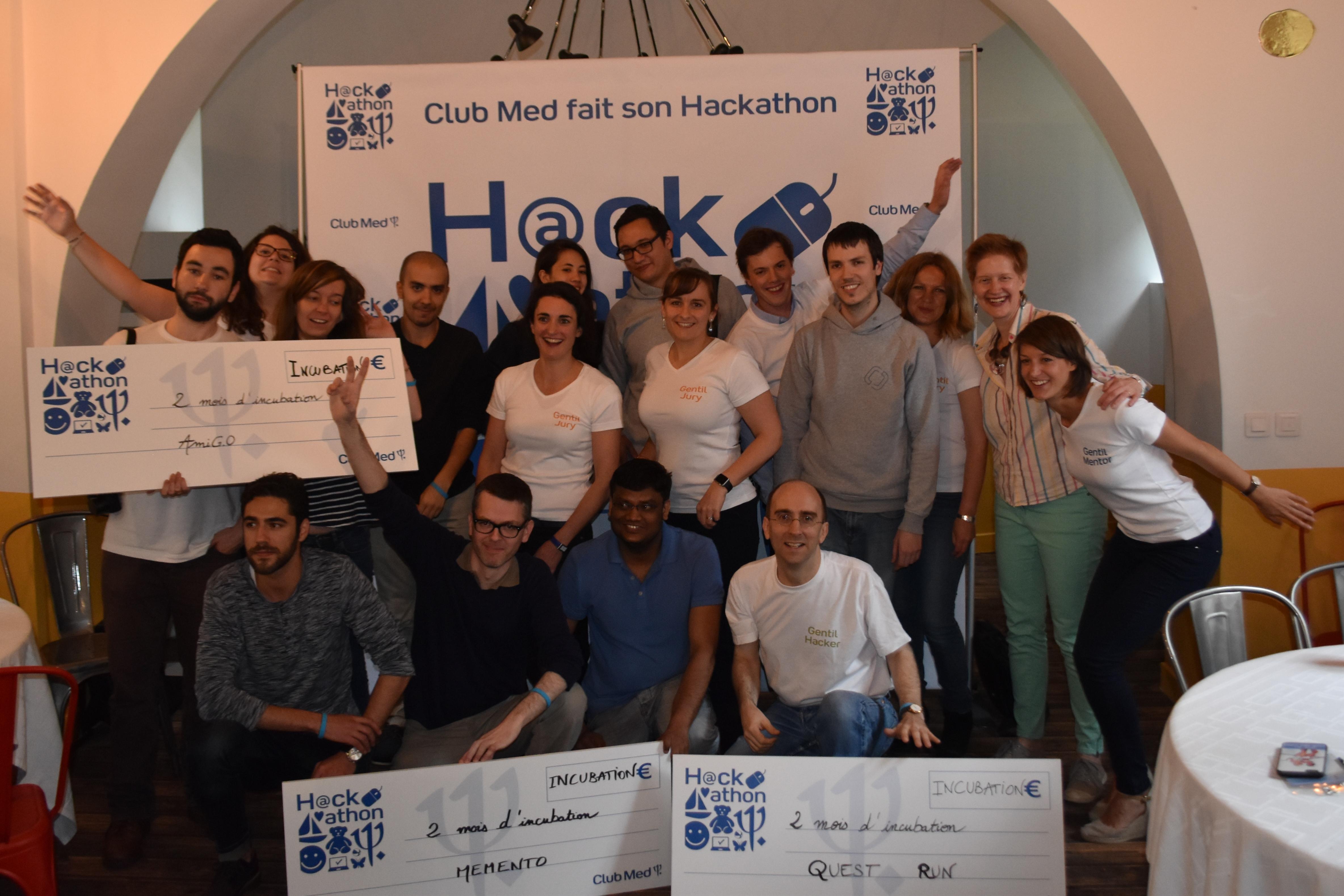 Club Med - Hackathon - Equipes gagnantes